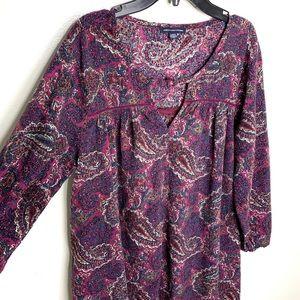 < American Eagle Paisley Print Dress >